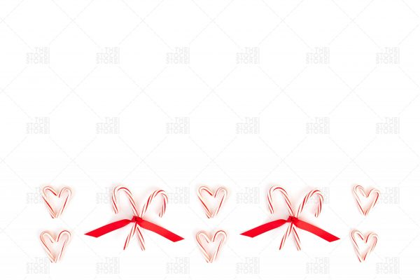 seasonal stock photo of candy canes
