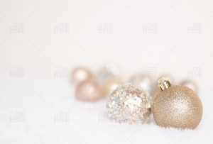 Gold Christmas Ornament stock photo