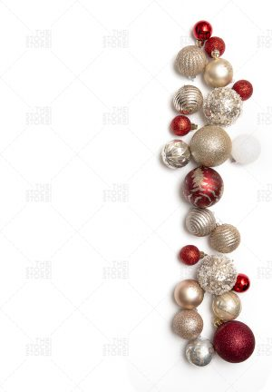 Stock Photo of red and gold christmas ornaments